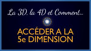 Explications sur la 3D, la 4D & Comment Accéder à la 5D
