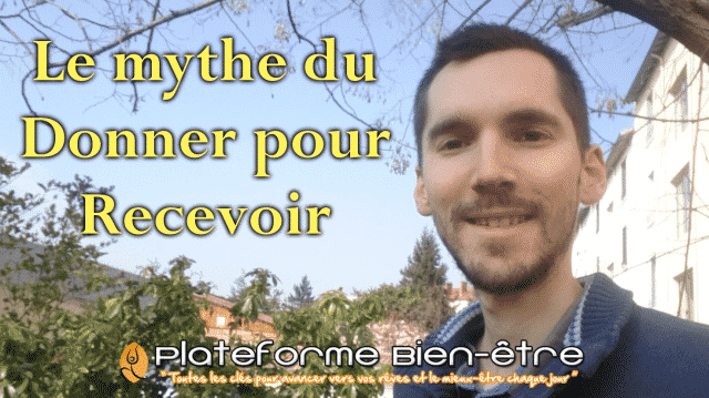Le mythe du Donner pour Recevoir