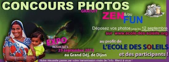 Concours Photos ZEN et FUN pour l'Ecole des Soleils